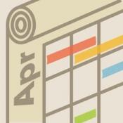 iPhone、iPadアプリ「くるまきカレンダー(6週表示スクロールカレンダー iOSカレンダー対応)」のアイコン
