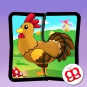 iPhone、iPadアプリ「農場ジグソーパズル123 Pocket - 子供用の楽しい言語学習ゲーム」のアイコン