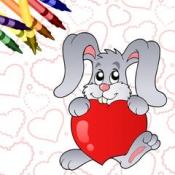 iPhone、iPadアプリ「バレンタインの塗り絵本!」のアイコン