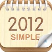 iPhone、iPadアプリ「卓上カレンダー2012:シンプルカレンダー」のアイコン