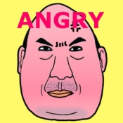 iPhone、iPadアプリ「怒るおじさん」のアイコン
