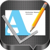 iPhone、iPadアプリ「BusinessCardDesigner - 名刺作成ソフト、テンプレート with PDF, AirPrint and email function」のアイコン