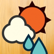 iPhone、iPadアプリ「おてがる天気」のアイコン