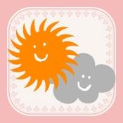 iPhone、iPadアプリ「おしゃれ天気」のアイコン