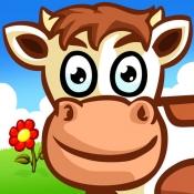 iPhone、iPadアプリ「子供のための動物のパズル - 農場 - Animal Puzzle for Kids & Tots」のアイコン