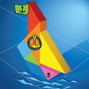 iPhone、iPadアプリ「Kids Learning Puzzles: Ships & Boats, K12 Tangram」のアイコン