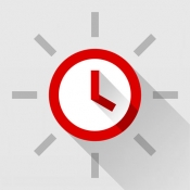 iPhone、iPadアプリ「Red Clock - Weather & Alarm」のアイコン