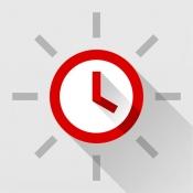 iPhone、iPadアプリ「Red Clock - Weather & Alarm」のアイコン
