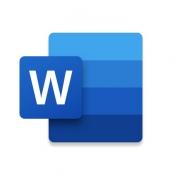 iPhone、iPadアプリ「Microsoft Word」のアイコン
