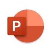 iPhone、iPadアプリ「Microsoft PowerPoint」のアイコン