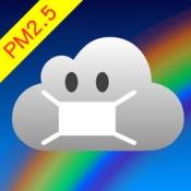 iPhone、iPadアプリ「大気くん - PM2.5をはじめとするあなたの地域の大気汚染の測定値をいつでもどこでも」のアイコン