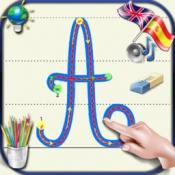 iPhone、iPadアプリ「子供のためのベ - 英語とスペイン語の音で大文字と小文字のアルファベットの筆記体文字を書くことを学ぶ」のアイコン