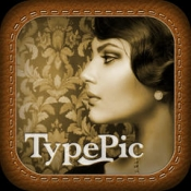 iPhone、iPadアプリ「TypePic-文字入れ、フィルターの写真加工!無料の文字入力の画像編集アプリはフォントも豊富で写メに落書きを合成!」のアイコン