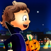 iPhone、iPadアプリ「トリックオアトリート:ハロウィンの夜に外にキャンディーのために - 無料版」のアイコン