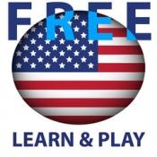 iPhone、iPadアプリ「学び、遊びます。米国英語(アメリカン) 無料 - 教育的なゲーム。発音と一緒に写真にあるテーマに関する言葉 - Learn and play. US English free」のアイコン