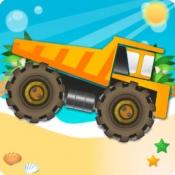 iPhone、iPadアプリ「トラックの冒険:危険の道に贈り物を届ける。モンスタートラックを運転する方法。車、トラック、トラクターについては、こちらをご覧ください。大人と子供のためのゲーム:無償、新」のアイコン