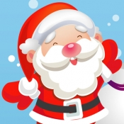 iPhone、iPadアプリ「サンタクロース、雪だるま、エルフ、天使、トナカイルドルフ、そして雪で幼稚園、幼稚園や保育園のためのゲームやパズル:クリスマスについての子供の年齢2-5のためのゲーム。」のアイコン