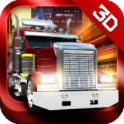 iPhone、iPadアプリ「3D Trucker: Driving and Parking Simulator - 車と欧州のコンテナ貨物自動車と石油のトラックを駐車。現実的なシミュレーション、無料のレースゲー」のアイコン