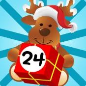 iPhone、iPadアプリ「アドベントカレンダー - あなたの12月のクリスマスの歌とプレゼントのパズルゲームとアドベントのシーズン!子供と親のためのメリークリスマス!」のアイコン