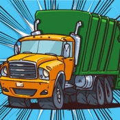 iPhone、iPadアプリ「A Cool Garbage Truck-er Driving Race Game By The Best Top Free Drive-r Games For Crazy Teen-s Girl-s Boy-s & Kid-s」のアイコン