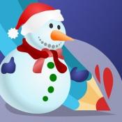 iPhone、iPadアプリ「塗り絵の本 子供のためのクリスマスのサンタクロース、雪だるま、エルフや贈り物のような多くの写真とともに。絵を描画する方法:学ぶためのゲーム」のアイコン