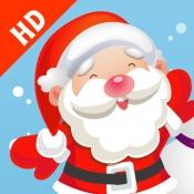 iPhone、iPadアプリ「サンタクロース、トナカイルドルフ、ギフト、そして雪のたくさんの幼稚園、幼稚園や保育園のためのパズルやゲーム:クリスマスについての子供の年齢2-5のためのゲーム。無償、新しい!」のアイコン