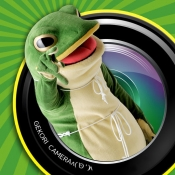 iPhone、iPadアプリ「キャラカメ!一平くんゲコリカメラ~カエルのタマゴってタピオカみたいだね~」のアイコン