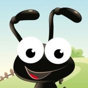 iPhone、iPadアプリ「森の昆虫約子供の年齢2-5のためのゲーム。幼稚園、保育園や保育所のためのゲームやパズル。動物、クモ、アリ、蚊、蝶、木々や花と遊ぶ。無償、新しい教育!」のアイコン