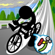 iPhone、iPadアプリ「爆走!坂道チャリ」のアイコン