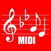 iPhone、iPadアプリ「MIDI 楽譜」のアイコン