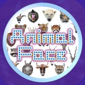 iPhone、iPadアプリ「Animal Faces Touch :: Face to Face Animal Touch Game  〜動物の顔を記憶して早くタッチすることを競うクイズ。Wikiへのリファレンスで動物王国の世界へ。生活の中で動物たちと触れ合おう!〜」のアイコン