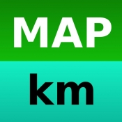 iPhone、iPadアプリ「ルート距離測」のアイコン