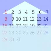 iPhone、iPadアプリ「チラ見せカレンダー壁紙」のアイコン