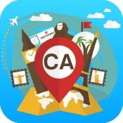 iPhone、iPadアプリ「カナダ オフライン旅行ガイド&地図。ツアー紹介 トロント,バンクーバー,モントリオール,オタワ」のアイコン