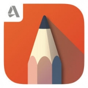 iPhone、iPadアプリ「Autodesk SketchBook」のアイコン