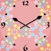 iPhone、iPadアプリ「万華鏡風時計 ~花と四季~」のアイコン