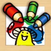 iPhone、iPadアプリ「ぬりえ帳(子供向け塗り絵本アプリ)」のアイコン