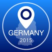 iPhone、iPadアプリ「ドイツオフライン地図+シティガイドナビゲーター、観光名所と転送」のアイコン