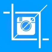 iPhone、iPadアプリ「スクエアサイズの写真Instagramのための - ホワイトボーダーを追加,形状は、フレーム&オーバーレイ画像に」のアイコン