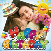 iPhone、iPadアプリ「Happy Birthday Frames & Poster」のアイコン