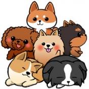 iPhone、iPadアプリ「わんこライフ - 可愛いわんちゃんを育てる犬の育成パズルゲーム」のアイコン