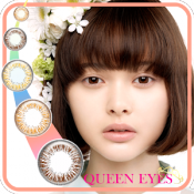 Androidアプリ「カラコン試着は「QUEEN EYES」」のアイコン