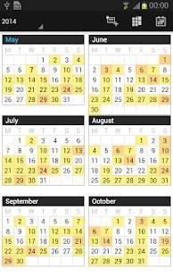 Androidアプリ「Business Calendar Pro(カレンダー)」のスクリーンショット 5枚目