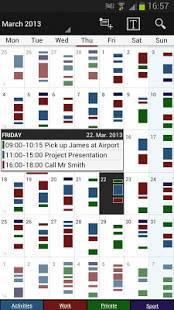 Androidアプリ「Business Calendar Pro(カレンダー)」のスクリーンショット 1枚目