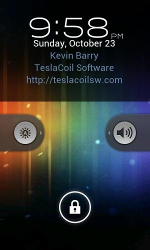 Androidアプリ「WidgetLocker Lockscreen」のスクリーンショット 1枚目