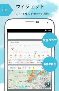 Androidアプリ「Yahoo!天気 - 雨雲や台風の接近がわかる気象レーダー搭載の天気予報アプリ」のスクリーンショット 4枚目