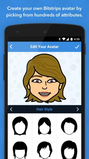 Androidアプリ「Bitstrips」のスクリーンショット 1枚目