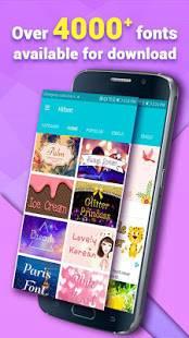 Androidアプリ「HiFont –クールフォントテキスト無料+スタイリッシュFlipFont」のスクリーンショット 2枚目