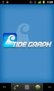 Androidアプリ「タイドグラフ(釣り、サーフィン、ダイビング、潮汐表、潮時表)」のスクリーンショット 1枚目