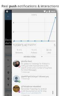 Androidアプリ「Tweetings for Twitter」のスクリーンショット 4枚目